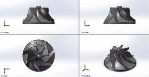 طراحی compressor و turbine به کمک نرم افزار Solidworks