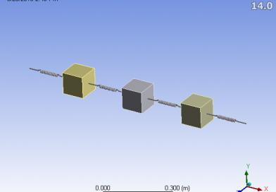 تحلیل سیستم سه درجه آزادی جرم و فنر در نرم افزار AnsysWorkbench