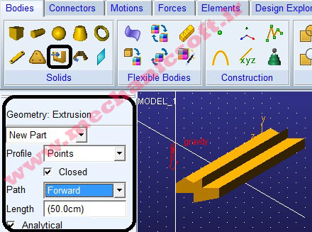 RigidBody:Extrusion