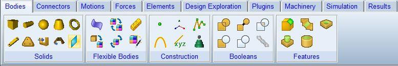 جعبه ابزار bodies در نرم افزار آدامز