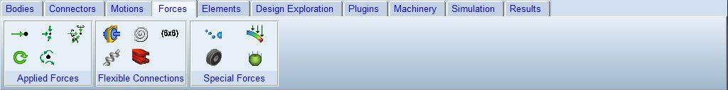 جعبه ابزار نیرو در نرم افزار آدامز